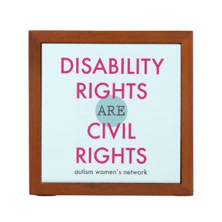 Disability Rights Desk Organizer