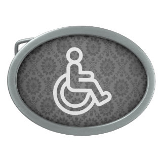 Disability Signs Graphic Belt Buckle