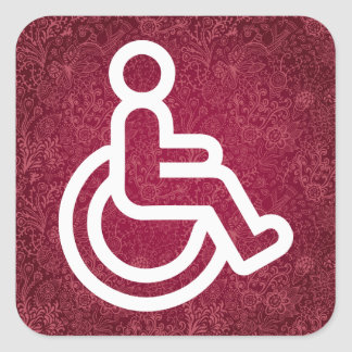 Disability Signs Graphic Square Sticker