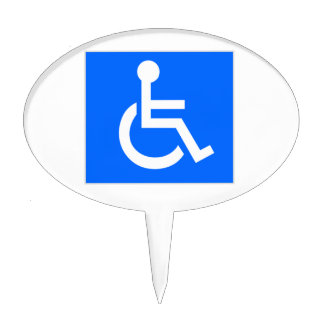 Disability Symbol Cake Topper