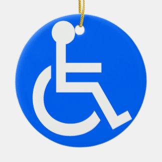 Disability Symbol Ceramic Ornament
