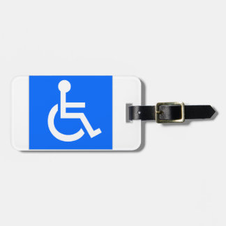 Disability Symbol Luggage Tag