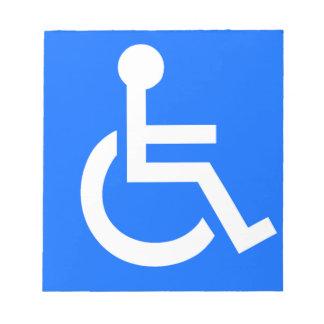 Disability Symbol Notepad