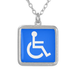 Disability Symbol Silver Plated Necklace