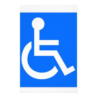 Disability Symbol Stationery