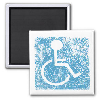 Disabled 2 Inch Square Magnet