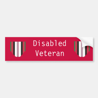 Disabled Afghanistan Veteran Bumper Sticker