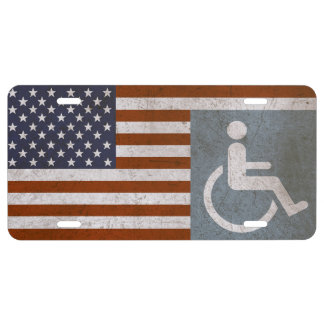 Disabled American Vet Rustic Tag. License Plate