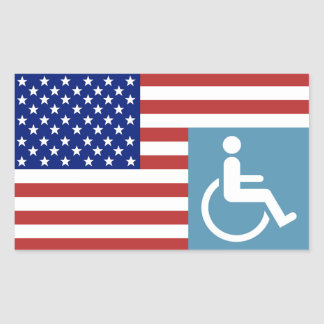 Disabled American Veteran Rectangular Sticker