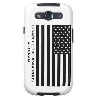 disabled and dangerous veteran phone case galaxy SIII covers