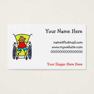 Disabled Boy Business Card