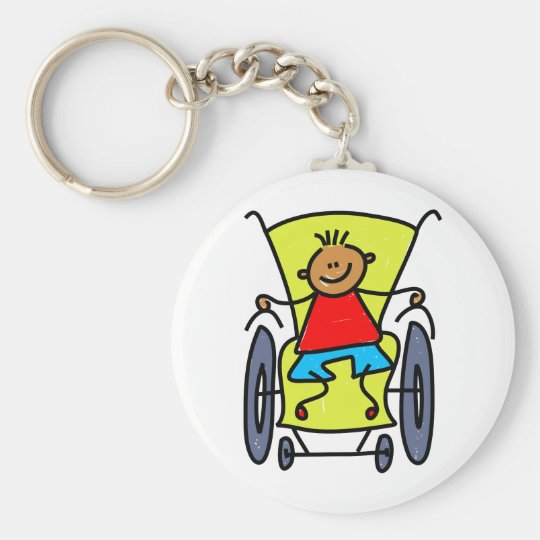 Disabled Boy Keychain