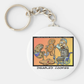 Disabled Cookies Funny Gifts & Collectibles Keychain