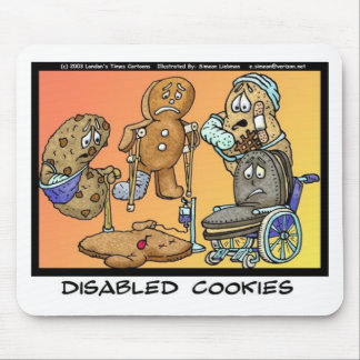 Disabled Cookies Funny Gifts & Collectibles Mouse Pad