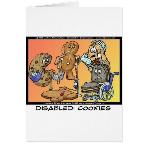Disabled Cookies Funny Internet Gifts Tees Mugs Card
