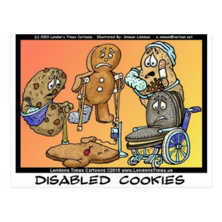 Disabled Cookies Funny Internet Gifts Tees Mugs Postcard