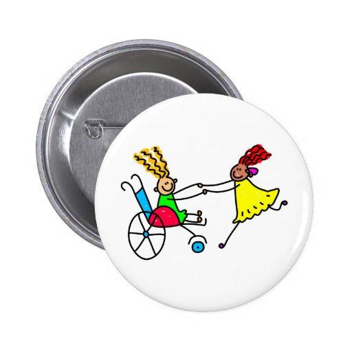 Disabled Friends 2 Inch Round Button