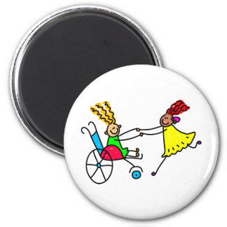 Disabled Friends Refrigerator Magnets