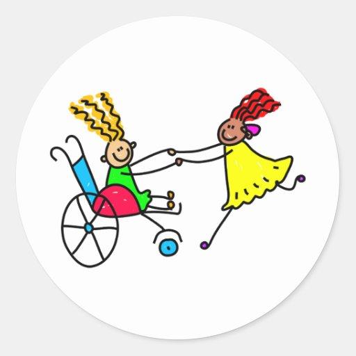 Disabled Friends Sticker