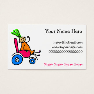 Disabled Girl Business Card