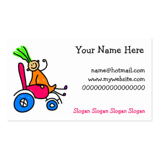 Disabled Girl Double-Sided Standard Business Cards (Pack Of 100)