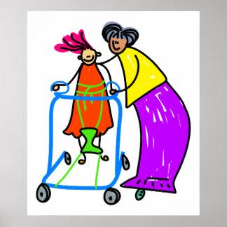 Disabled Girl Print