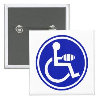 DISABLED JOKE PARKING SIGN HAND PIN
