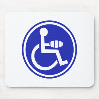 DISABLED JOKE PARKING SIGN HAND MOUSE PAD