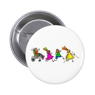 Disabled Kids Pinback Buttons