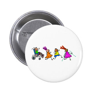 Disabled Kids Pinback Buttons
