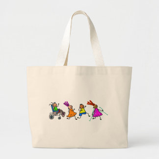 Disabled Kids Large Tote Bag