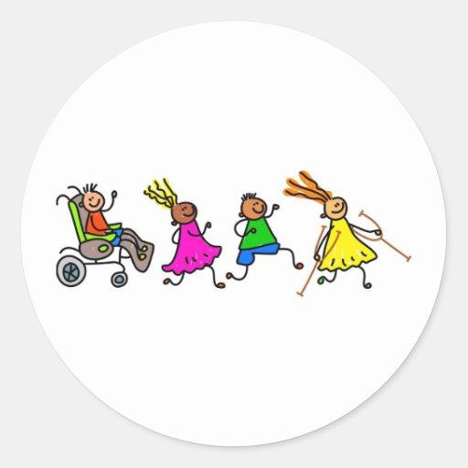 Disabled Kids Sticker