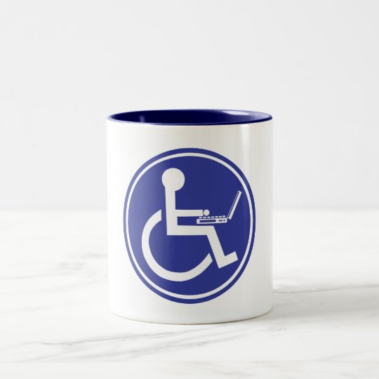 DISABLED LAPTOP Two-Tone COFFEE MUG