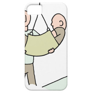 Disabled man lifted by hydraulic lift machine iPhone SE/5/5s case