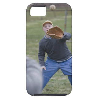 Disabled man playing baseball with his son iPhone SE/5/5s case