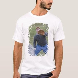 Disabled man playing baseball with his son T-Shirt