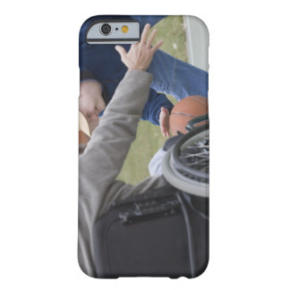 Disabled man playing basketball with his son barely there iPhone 6 case