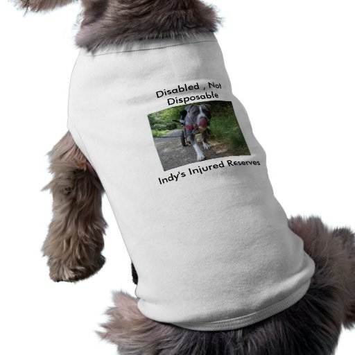 Disabled , Not Disposable Doggie Tee