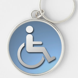 Disabled Person. Keychain