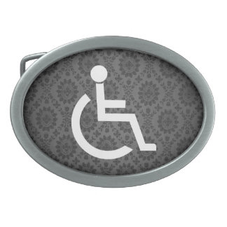 Disabled Persons Graphic Belt Buckles