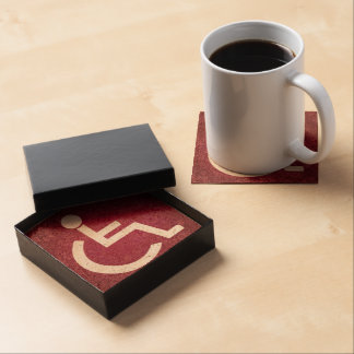 Disabled Persons Graphic Beverage Coasters