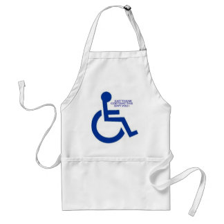 disabled sign adult apron
