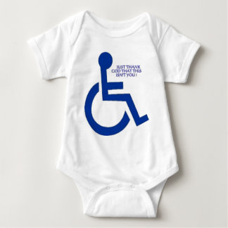 disabled sign baby bodysuit