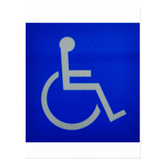 disabled sign.JPG Postcard