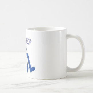 disabled sign classic white coffee mug