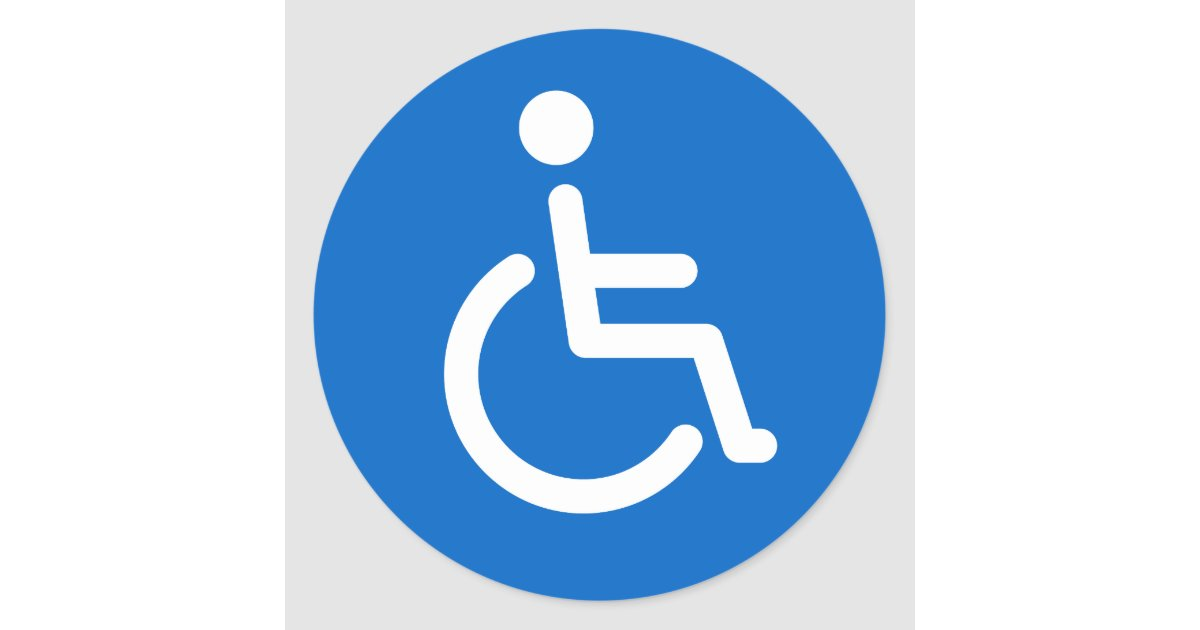 disabled sign or handicapped symbol blue and white classic. Black Bedroom Furniture Sets. Home Design Ideas