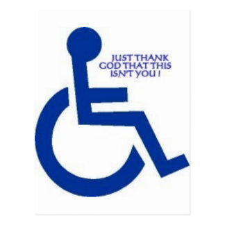 disabled sign postcard