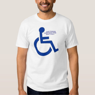 disabled sign t-shirt