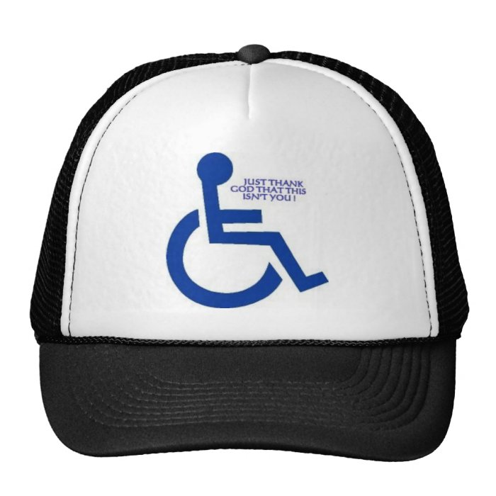 disabled sign trucker hat