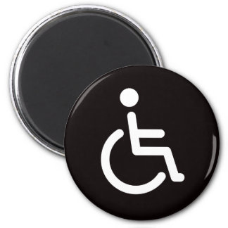 Disabled symbol 2 inch round magnet